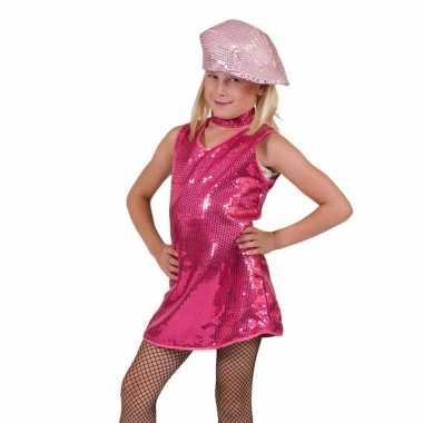 Carnaval  Fuchsia glitter kostuum jurk meisjes