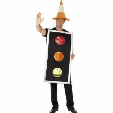 Carnaval  Funny kostuum Stoplicht heren