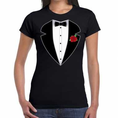 Carnaval gangster maffia kostuum t kostuum zwart dames