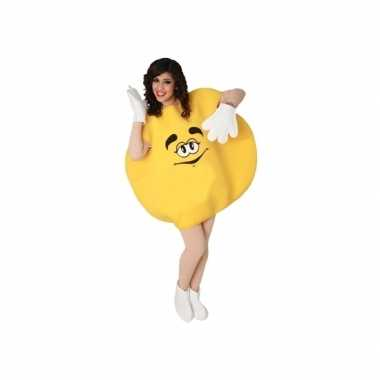 Carnaval geel snoep kostuum volwassenen