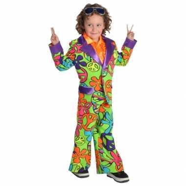 Carnaval  Gekleurd hippie kostuum jongens