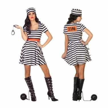 Carnaval gevangene/boef bonnie verkleed kostuum/jurk dames
