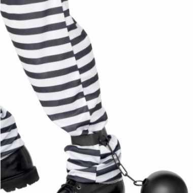 Carnaval gevangenis bal ketting kostuum