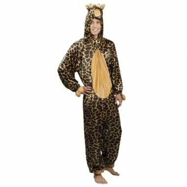 Carnaval giraffe dierenkostuum heren