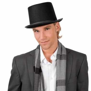 Carnaval goochelaarshoed zwart volwassenen kostuum