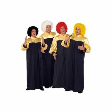 Carnaval gospel feest toga volwassenen kostuum