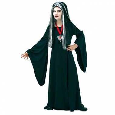 Carnaval  Gothic kostuum jurk zwart kinderen