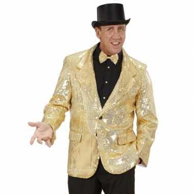 Carnaval  Gouden glitter blazer kostuum