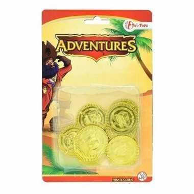 Carnaval gouden piraten speelgoed munten kostuum