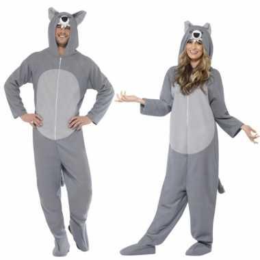 Carnaval  Grijze wolf kostuum