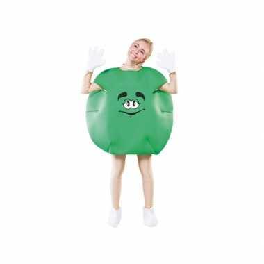 Carnaval  Groen snoep kostuum volwassenen