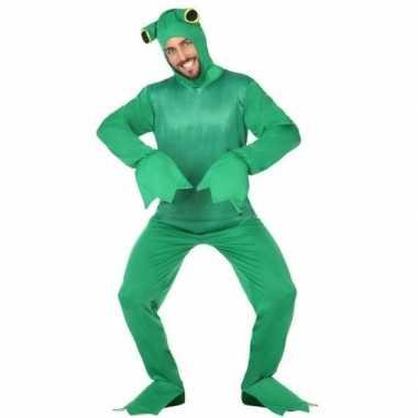Carnaval groene kikker dieren verkleedkostuum volwassenen