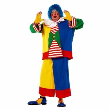 Carnaval  Grote maat clowns kostuum heren