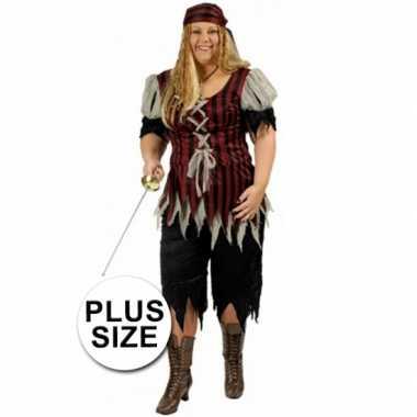 Carnaval  Grote maat dames piraten kostuum