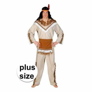 Carnaval grote maat indiaan adahy verkleed kostuum heren