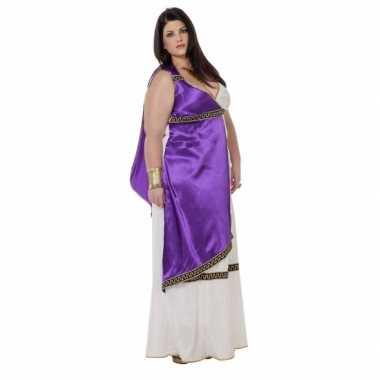 Carnaval  Grote maat Romeinse kostuum jurk Livia