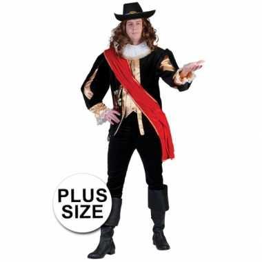 Carnaval  Grote maat zwart middeleeuws leuk kostuum heren
