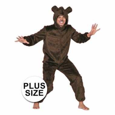 Carnaval  Grote maten berenkostuum bruin