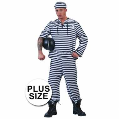 Carnaval  Grote maten gevangene kostuum