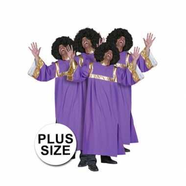 Carnaval  Grote maten gospel zanger kostuum