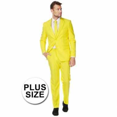 Carnaval  Grote maten heren kostuum geel