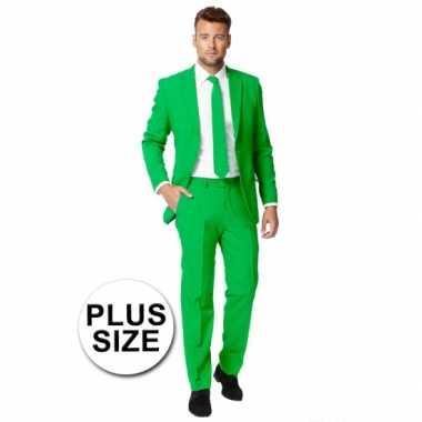 Carnaval  Grote maten heren kostuum groen