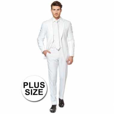 Carnaval  Grote maten heren kostuum wit