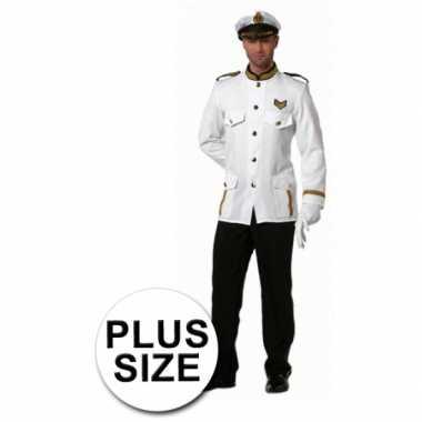 Carnaval  Grote maten kapitein kostuum heren