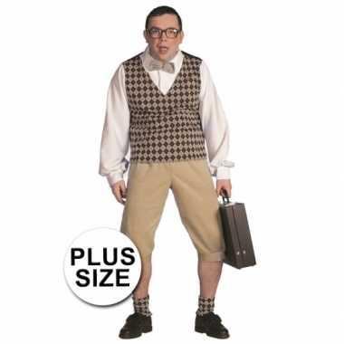 Carnaval  Grote maten nerd kostuum heren