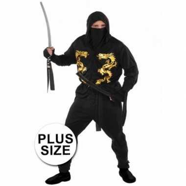 Carnaval grote maten ninja kostuum heren