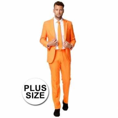 Carnaval  Grote maten oranje kostuum