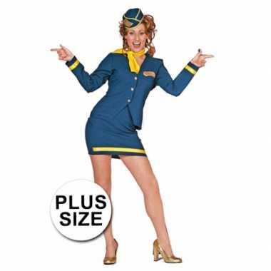 Carnaval  Grote maten stewardess kostuum