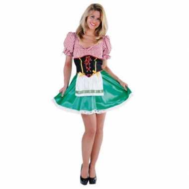 Carnaval  Heidi dirndl kostuum jurkje dames