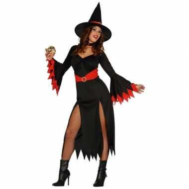 Carnaval  Heksen kleding zwarte kostuum jurk dames