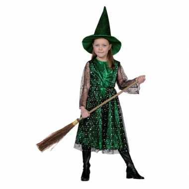 Carnaval  Heksenjurk hoed kinderen kostuum