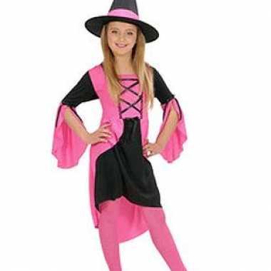 Carnaval  Heksenkleren meisje roze kostuum