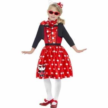 Carnaval  Hello Kitty Fifties kostuum jurkje rood