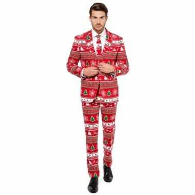 Carnaval heren kostuum kerstboom print