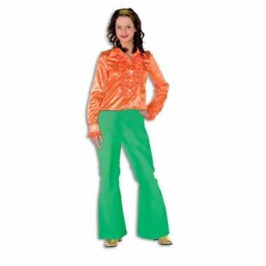 Carnaval  Hippie broek groen dames kostuum