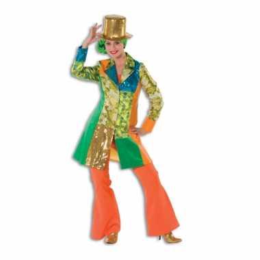 Carnaval  Hippie broek oranje dames kostuum