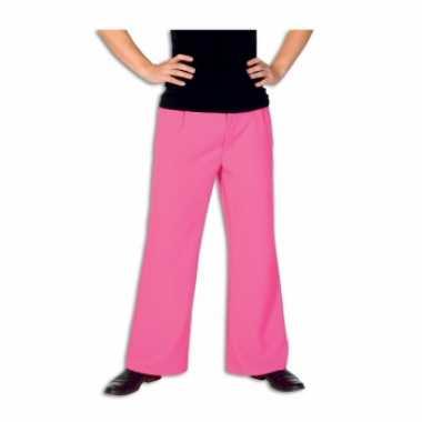 Carnaval hippie broek roze kostuum