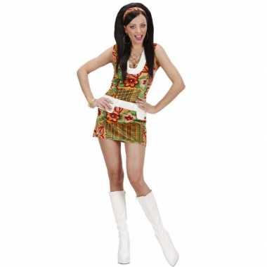 Carnaval  Hippie kleding dames flowers kostuum