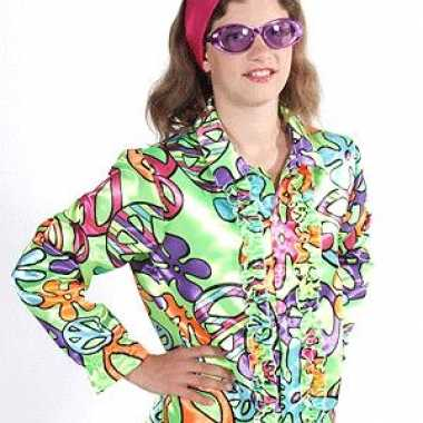 Carnaval hippie kostuum peace kids