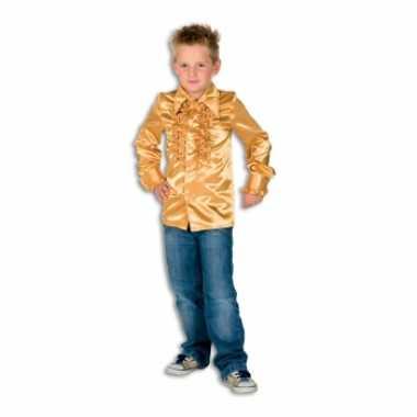 Carnaval  Hippie rouche kostuum jongens goud