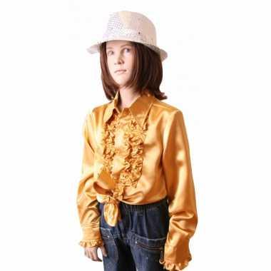 Carnaval  Hippie rouche kostuum meisjes goud