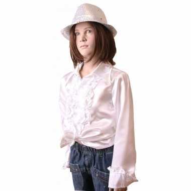 Carnaval  Hippie rouche kostuum meisjes wit