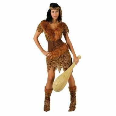 Carnaval holbewoonster/cavewoman ayla verkleed kostuum/jurk dames