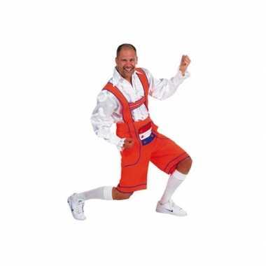 Carnaval  Holland lederhose oranje heren kostuum