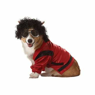 Carnaval honden kostuum michael jackson