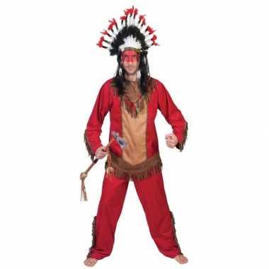 Carnaval indiaan lootah verkleed kostuum heren